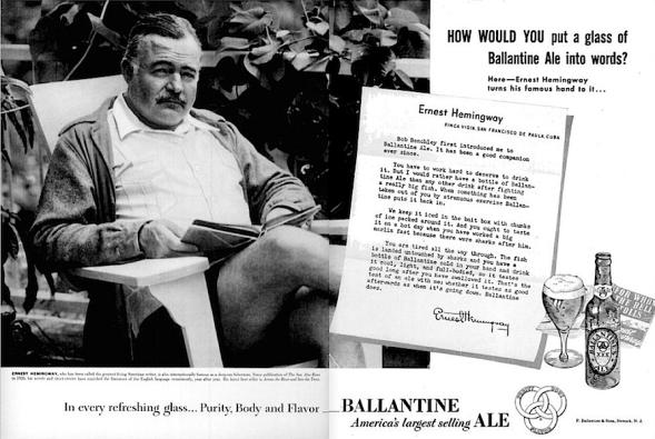 Ernest Hemingway ale ad
