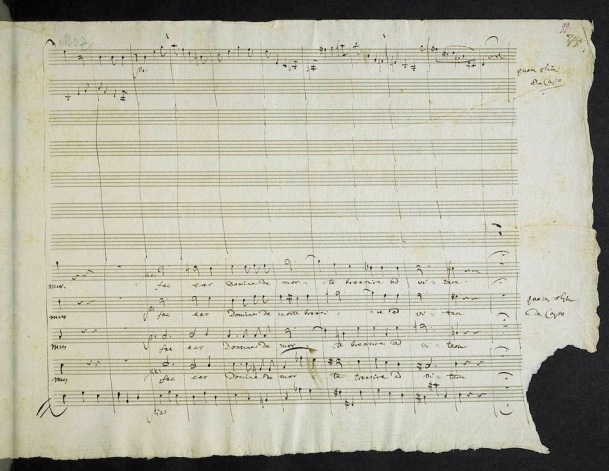 The last page of the last work of Wolfgang Amadeus Mozart.