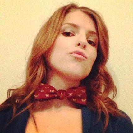 Anna Kendrick bow-tie